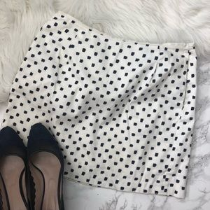 J. Crew Factory Printed Mini Skirt